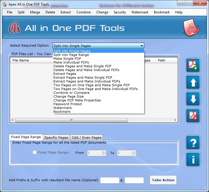 Click to view Apex Append PDF 2.3.8.2 screenshot