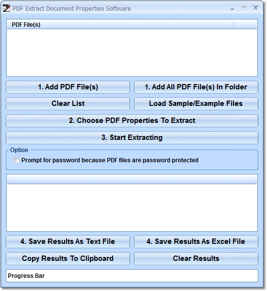 Click to view PDF Extract Document Properties Software 7.0 screenshot