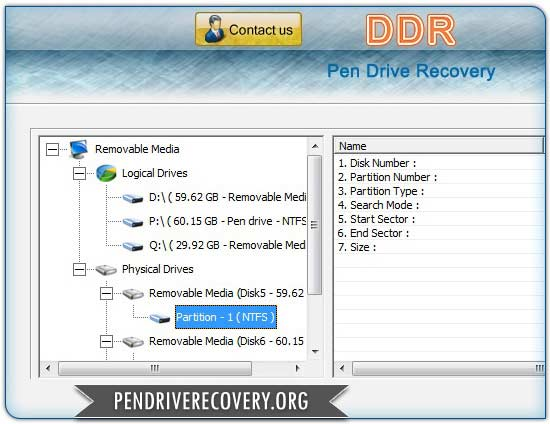 Click to view Pen Drive Recovery 4.0.1.6 screenshot