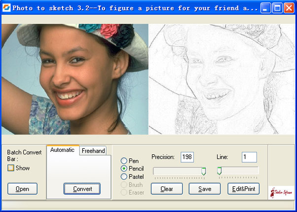 Click to view Photo to Sketch Std 4.0 screenshot