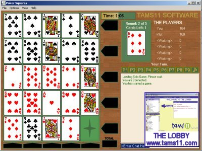 Click to view Tams11 Poker Squares 2.0.1.0 screenshot