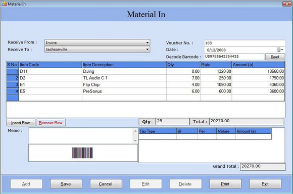 Click to view General Ledger Bookkeeping Software 3.0.1.5 screenshot
