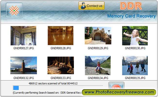 Click to view Card Recovery Software 3.0.1.5 screenshot