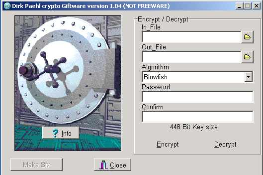 Click to view DPCRYPT 1.05 screenshot