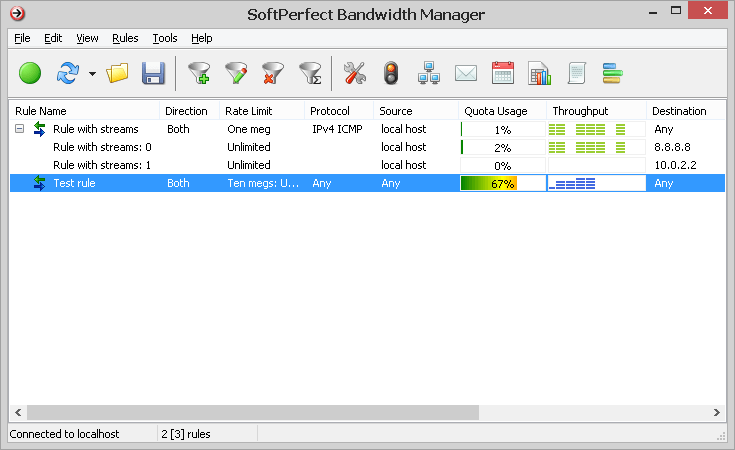 Click to view SoftPerfect Bandwidth Manager 3.0.8 screenshot