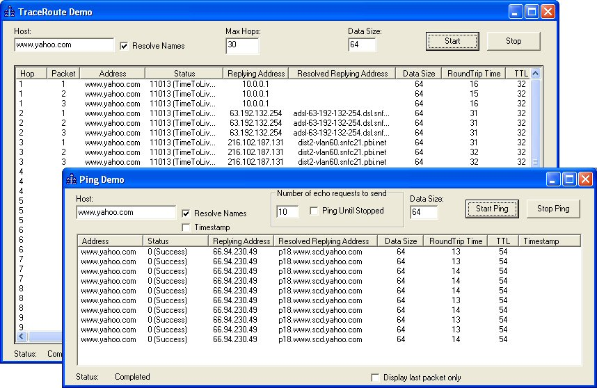Click to view ICMP ActiveX Control 5.0.0.1 screenshot
