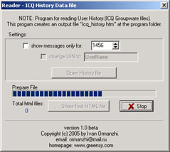 Click to view Read ICQCorp History 1.0 screenshot