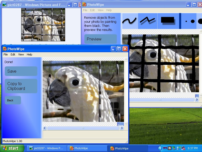 Screenshot for PhotoWipe 1.0