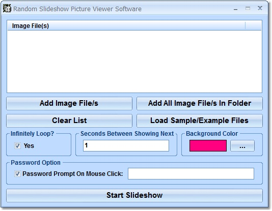 Click to view Random Slideshow Picture Viewer Software 7.0 screenshot