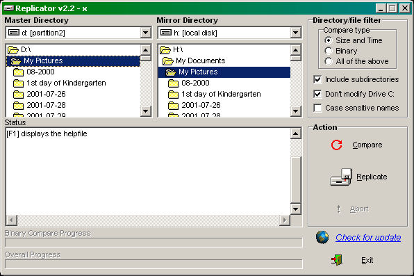 Click to view Directory Replicator 2.2.6 screenshot