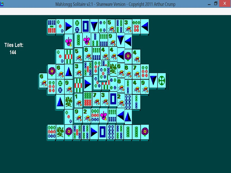 Click to view MahJongg Solitaire 2.1 screenshot