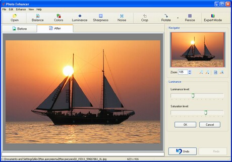 Click to view Photo Enhancer 1.51 screenshot