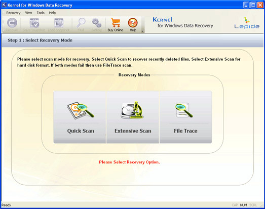 Click to view Recover Deleted File 11.01.01 screenshot