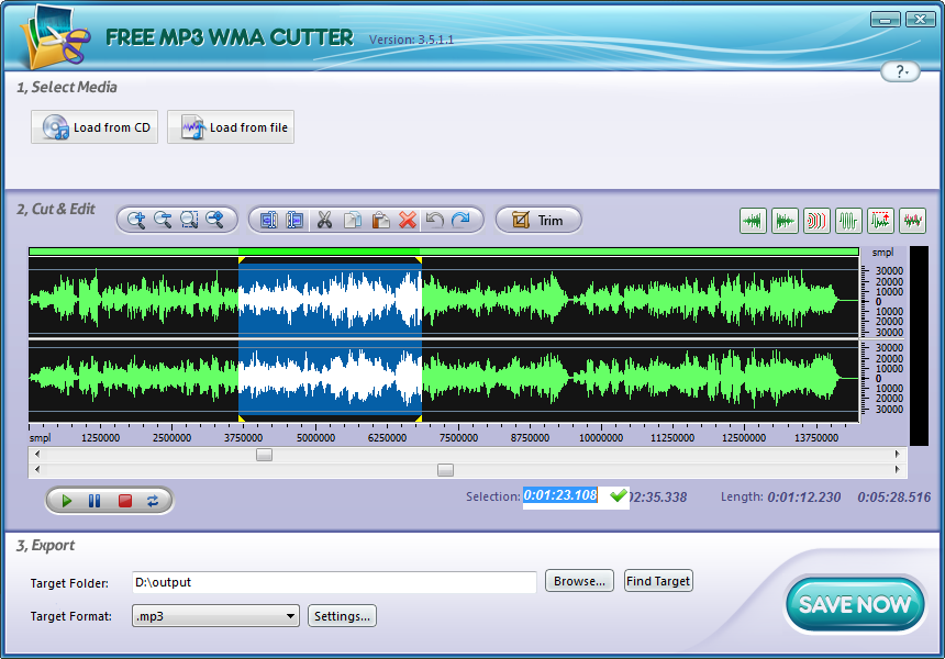 Click to view Free MP3 Cutter 5.4.9 screenshot