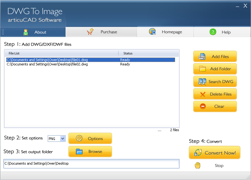 Click to view articuCAD DWG DXF to Image Converter 4.4.8 screenshot