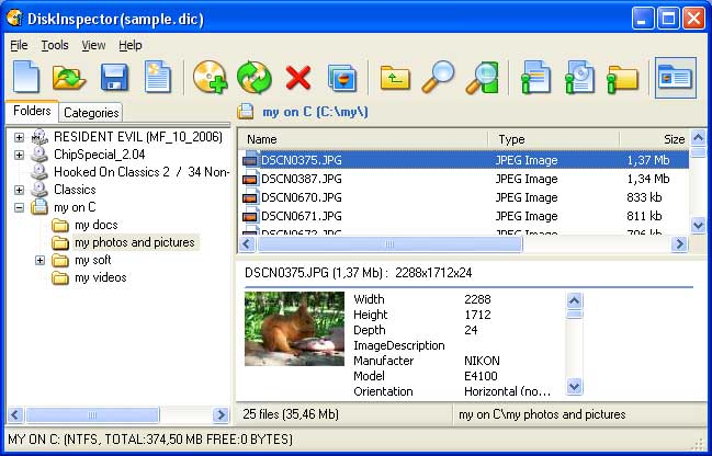 Click to view Disk Inspector 3.1 screenshot