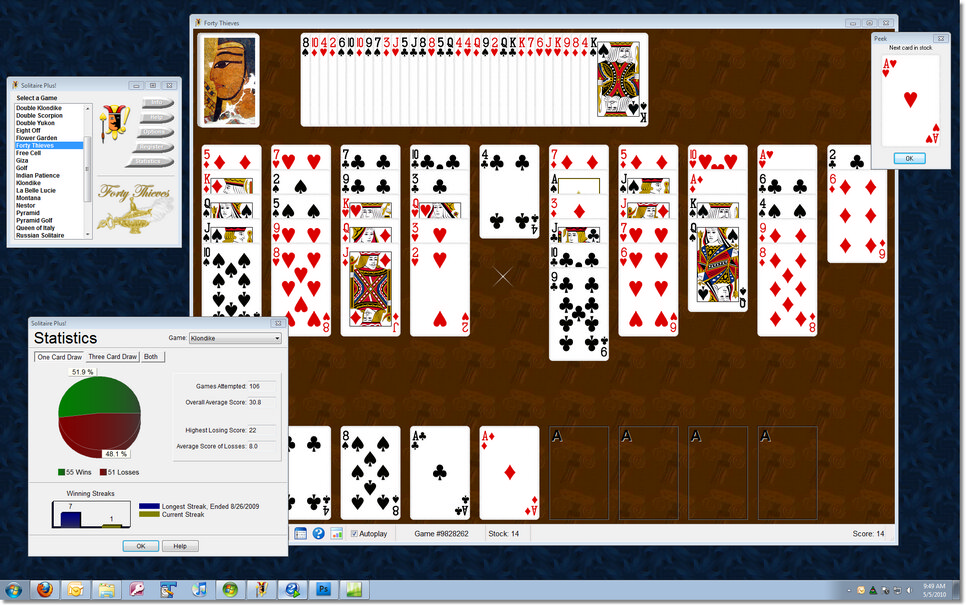 Click to view Solitaire Plus! 3.0 screenshot