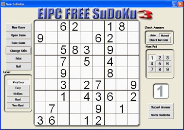 Click to view free SuDoKu 3.87 screenshot