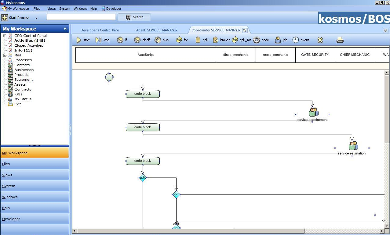 Click to view Car Service Process Automation 2.00 screenshot
