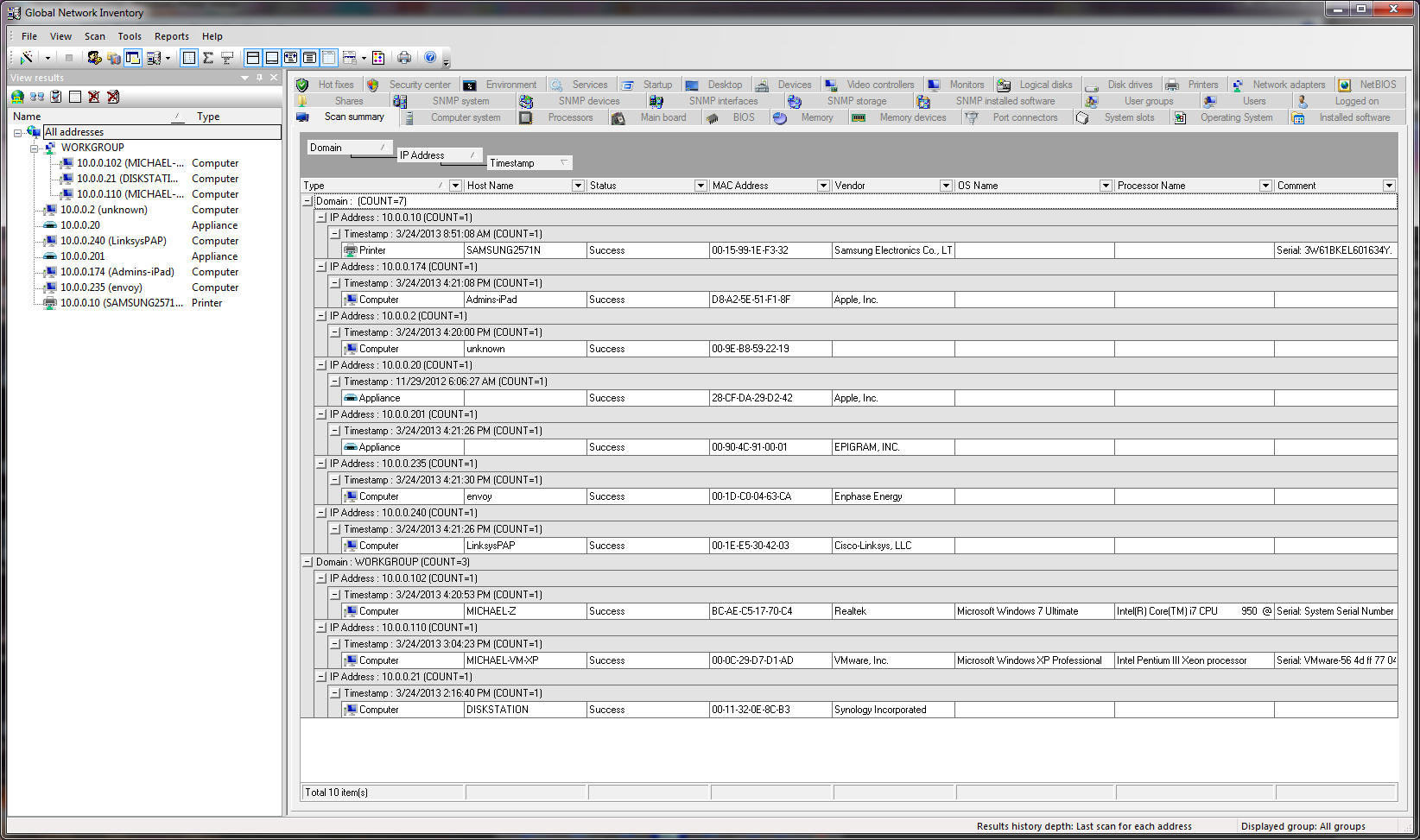 Click to view Global Network Inventory 4.1.0.1 screenshot