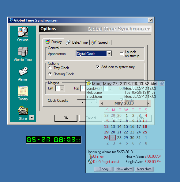 Click to view Global Time Synchronizer 2.1 screenshot