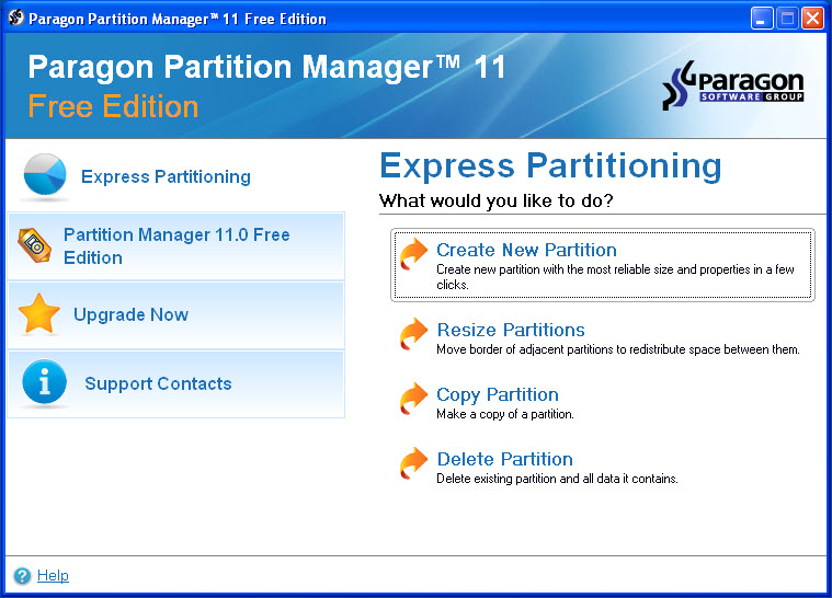 Screenshot for Paragon Partition Manager Free Edition 11