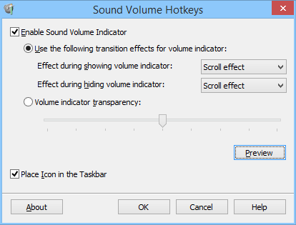 Click to view Sound Volume Hotkeys 1.1 screenshot