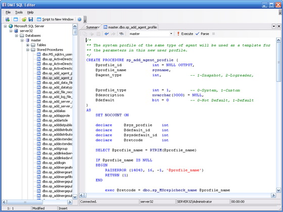 Click to view DMT SQL Editor 1.3 screenshot