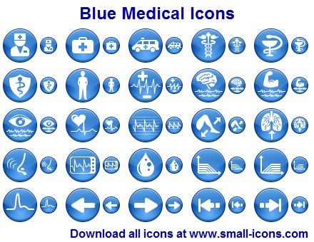 Click to view Blue Medical Icons 2013.1 screenshot
