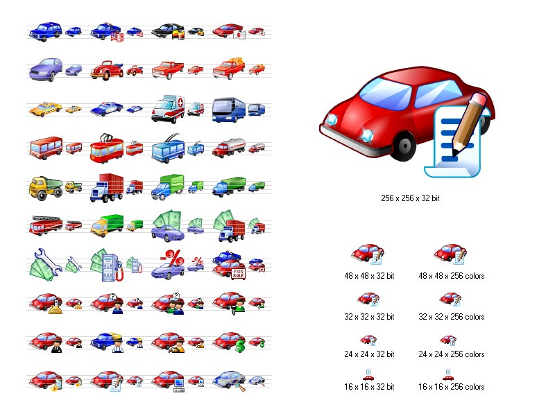 Click to view Car Icon Library 3.10 screenshot