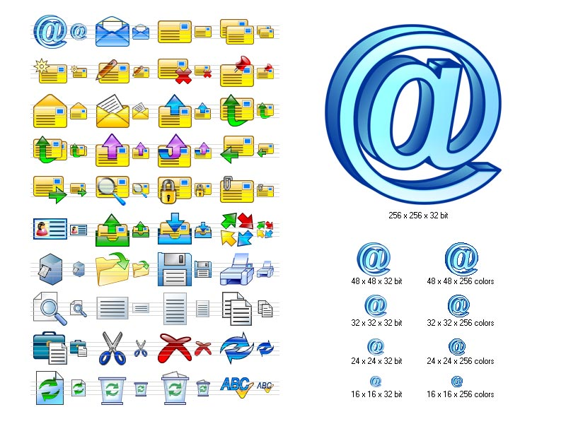 Click to view Email Icon Set 2013.2 screenshot