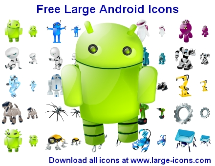 Click to view Free Large Android Icons 2013.2 screenshot
