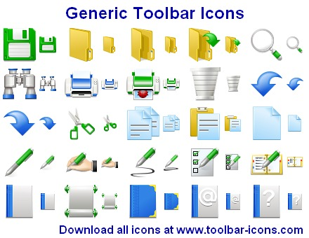 Click to view Generic Toolbar Icons 2013.2 screenshot