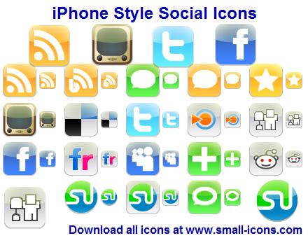 Click to view iPhone Style Social Icons 2013.1 screenshot
