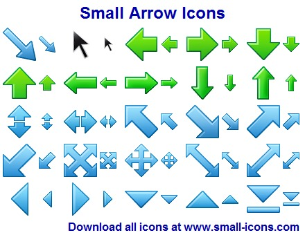 Click to view Small Arrow Icons 2013.1 screenshot