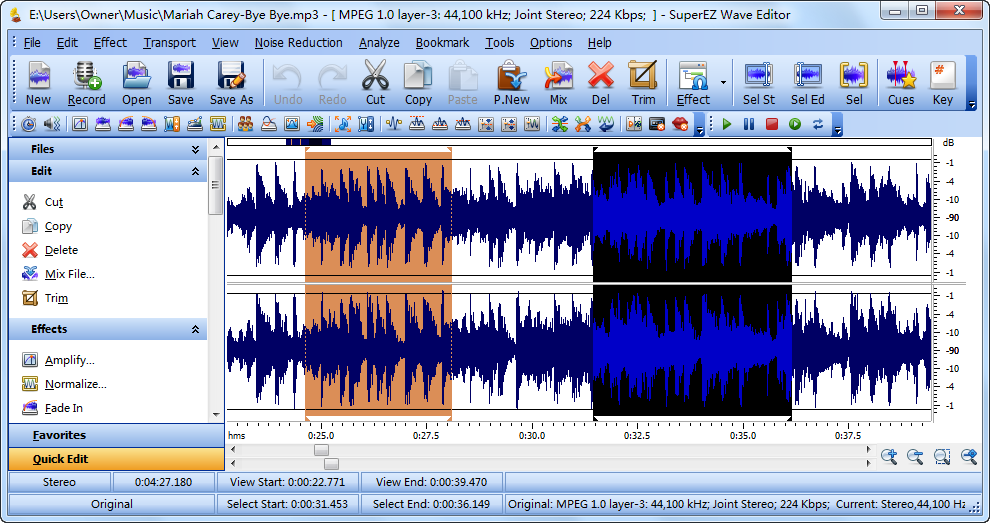 Click to view SuperEZ Wave Editor 11.3.1 screenshot