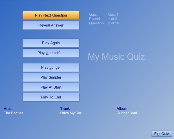 Click to view My Music Quiz 1.4.2a screenshot