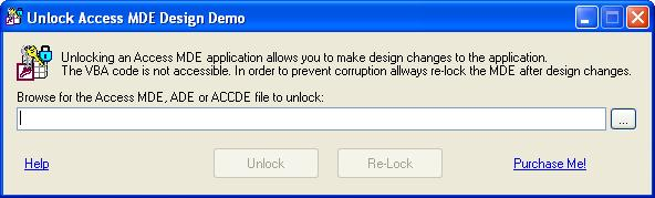 Click to view Unlock Access MDE Design 2.3.3 screenshot