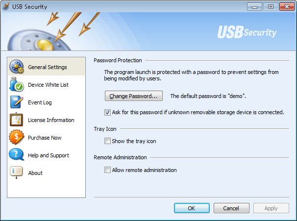 Click to view USB Security 2.6 screenshot