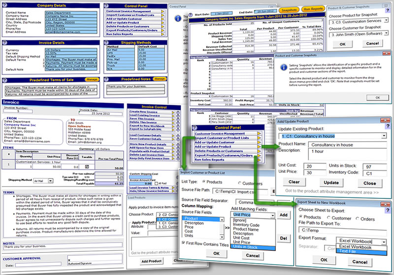 Click to view Invoice Template for Excel 3.0 screenshot