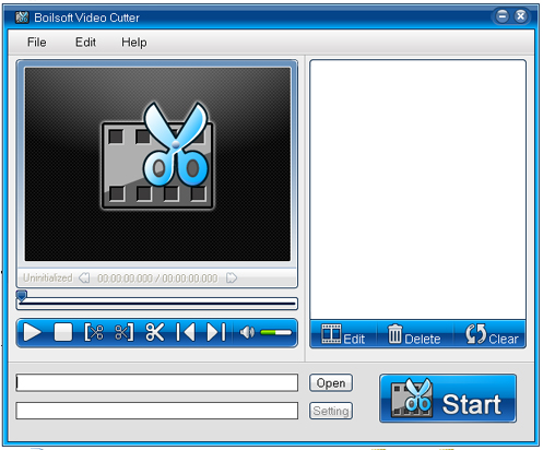 Click to view Boilsoft Video Cutter 1.23 screenshot