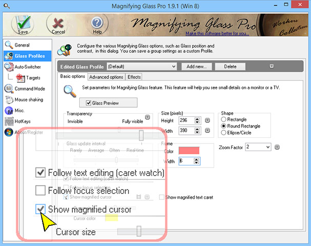 Click to view Magnifying Glass Pro 1.9.1 screenshot