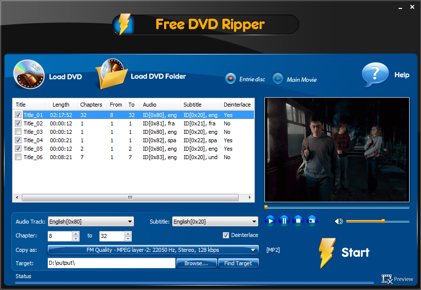 Click to view Free DVD Ripper Ultimate 3.2.5 screenshot